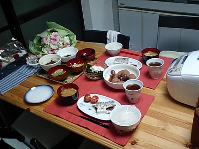川崎家の食卓。
