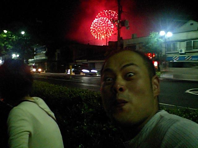 嫁と福知山花火大会